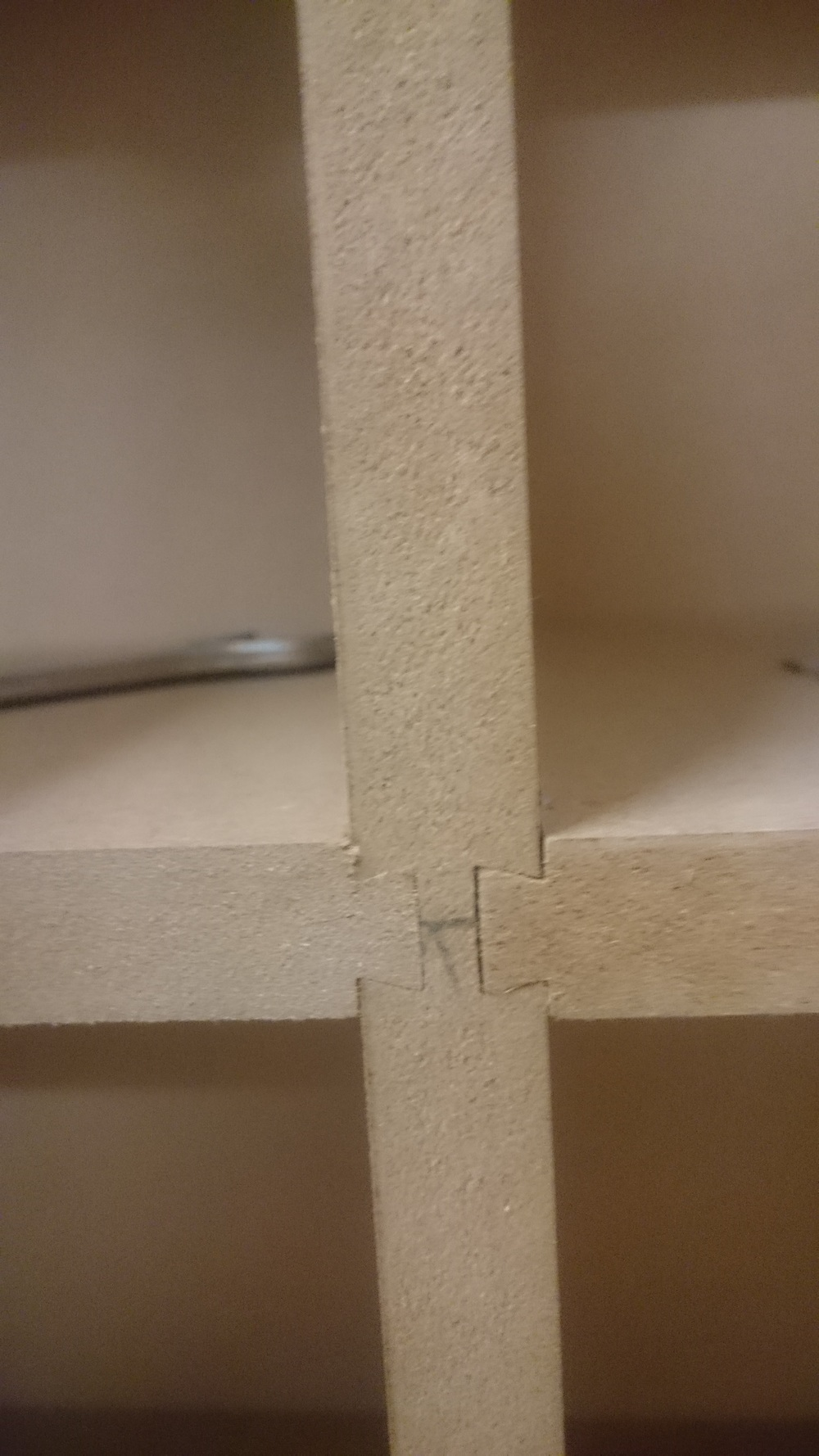 Here is one of the many meeting points of the sliding dovetails