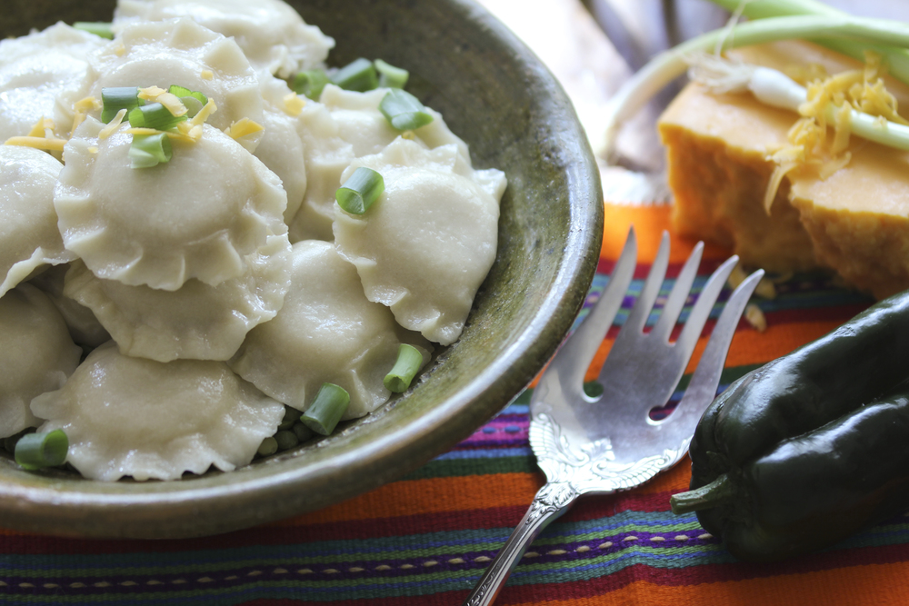 The classic pierogi's sassy cousin! Try with sour cream & chives.