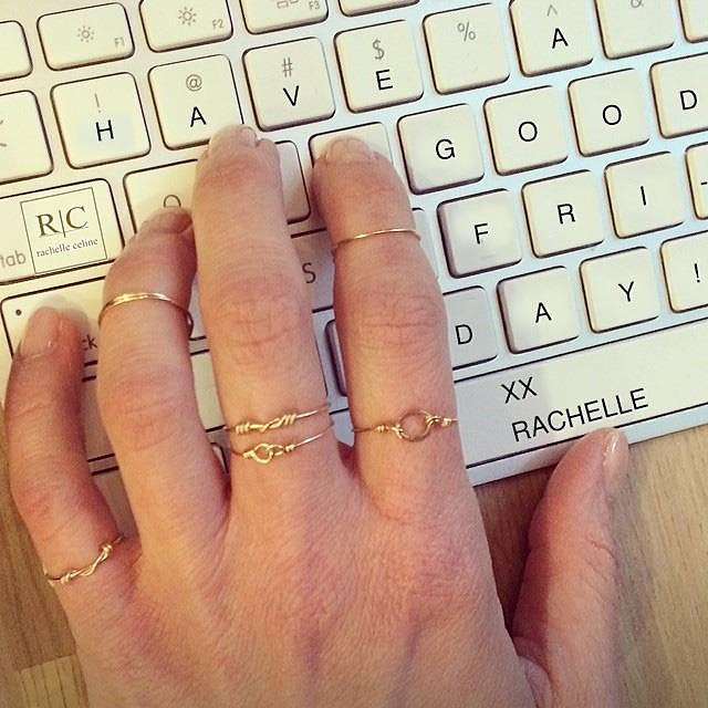 The cure to a cold and rainy day:  shop online and $25 coupon on your order with code RCloyal25.  Happy Friday!  #madeindc #rings #stacks #friday #sale #shoponline. www.rachelleceline.com🔺link in profile.