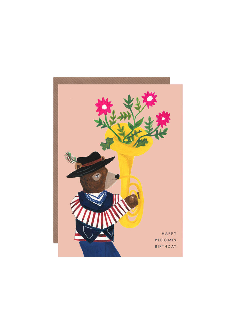 Blooming Bear Birthday Card Hutch Cassidy