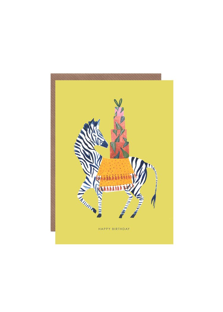 Zebra Birthday Card Hutch Cassidy