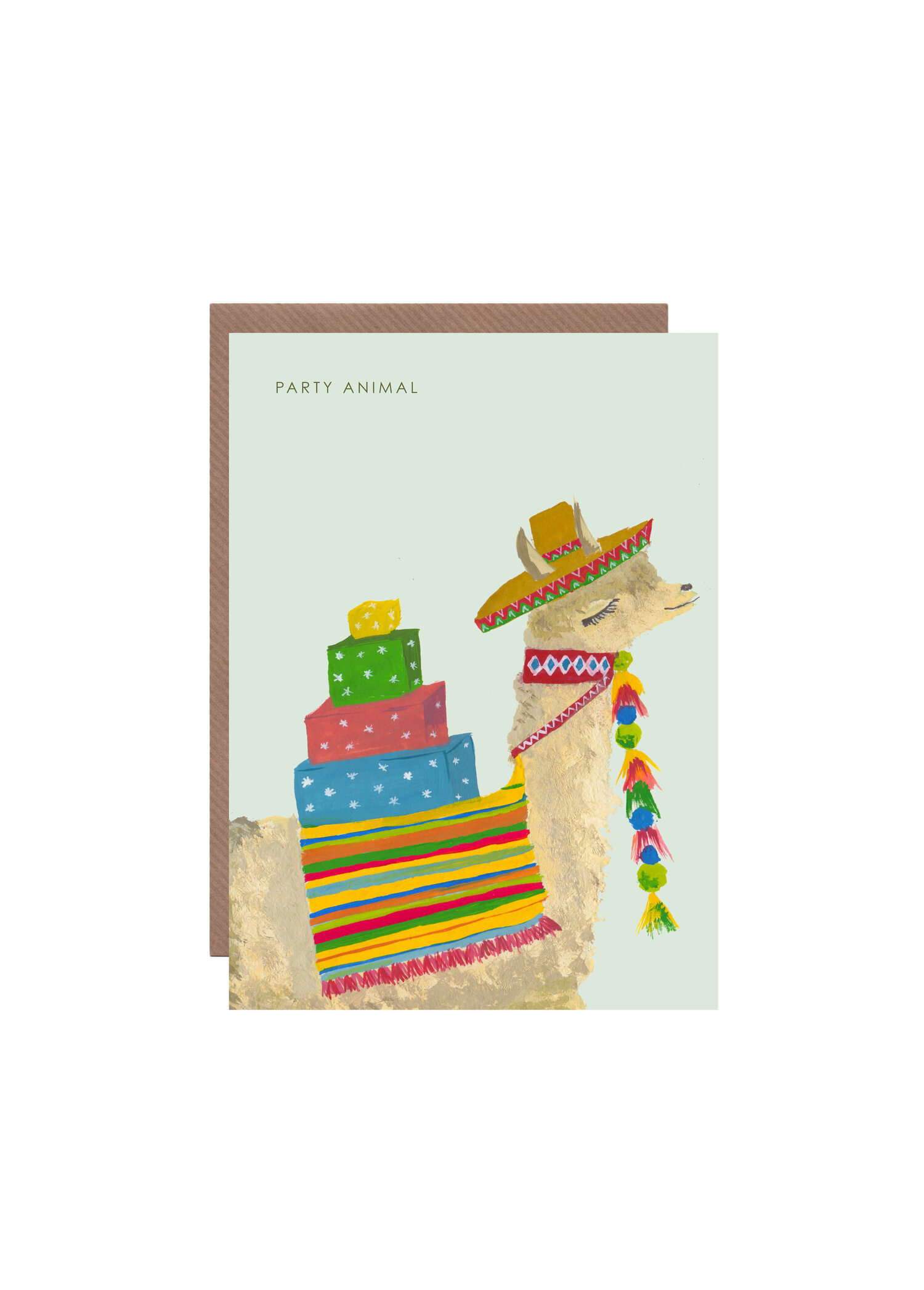 PARTY LLAMA BIRTHDAY CARD HUTCH CASSIDY