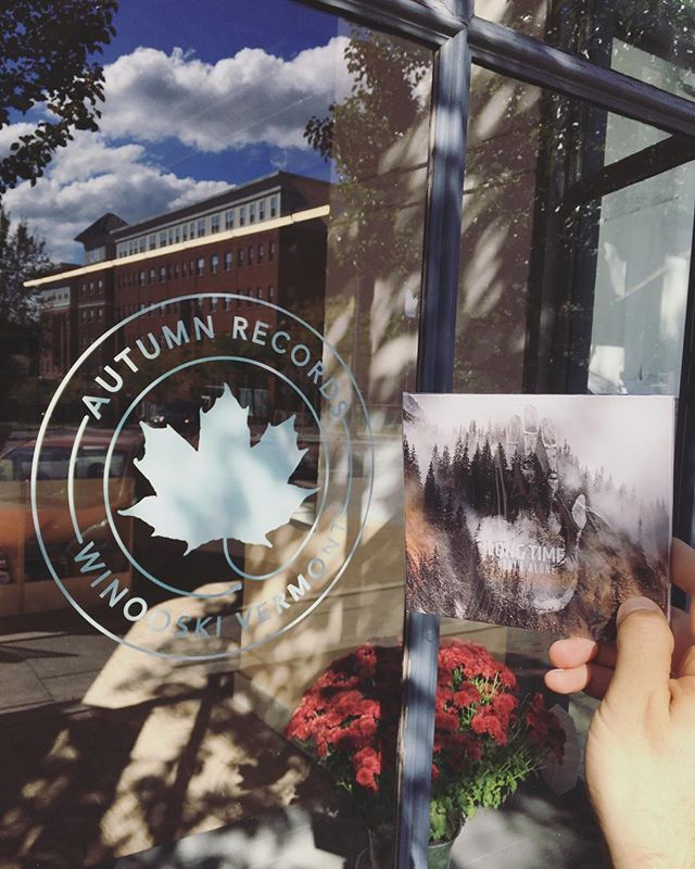 """Hey Vermont!! """"Never Alone"""" is now available at Autumn Records - go grab yourself a copy and listen while catching those harvest vibes! 🍁🍂🌽🦃"""