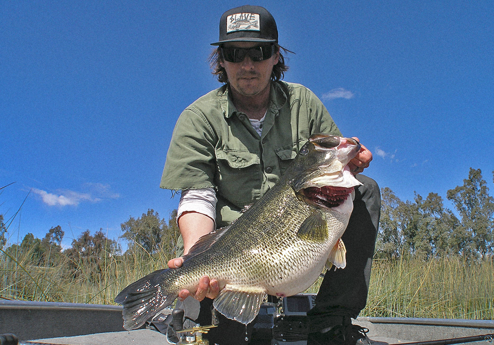 17.45lbs of glutenous largemouth bass. Photo: Mike Long