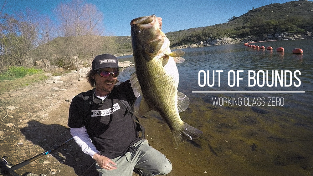 Out of Bounds: Sometimes all you need is a quick shore bangin' mission, one well placed cast and a solid chunk to make your day complete. Watch as Mike Gilbert gets it done with the DRT Klash, The Workshop White Label Heavy and the Travel Ready Big Bass Board. Click image to watch.