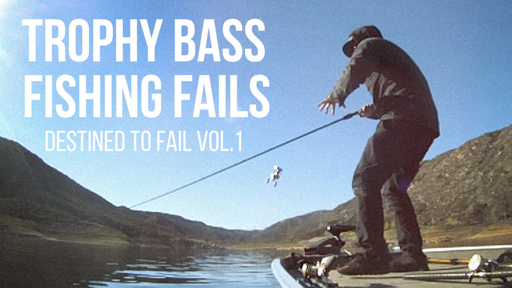 Trophy Bass Fishing Fails: It doesn't always go as planned when on the water chasing trophy bass.  Here's a snapshot of some on the water antics with Mike Gilbert and his Fails. Click image to watch