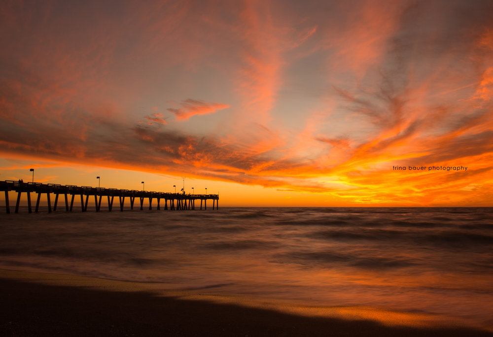 Venice-beach-pier-florida-sunset