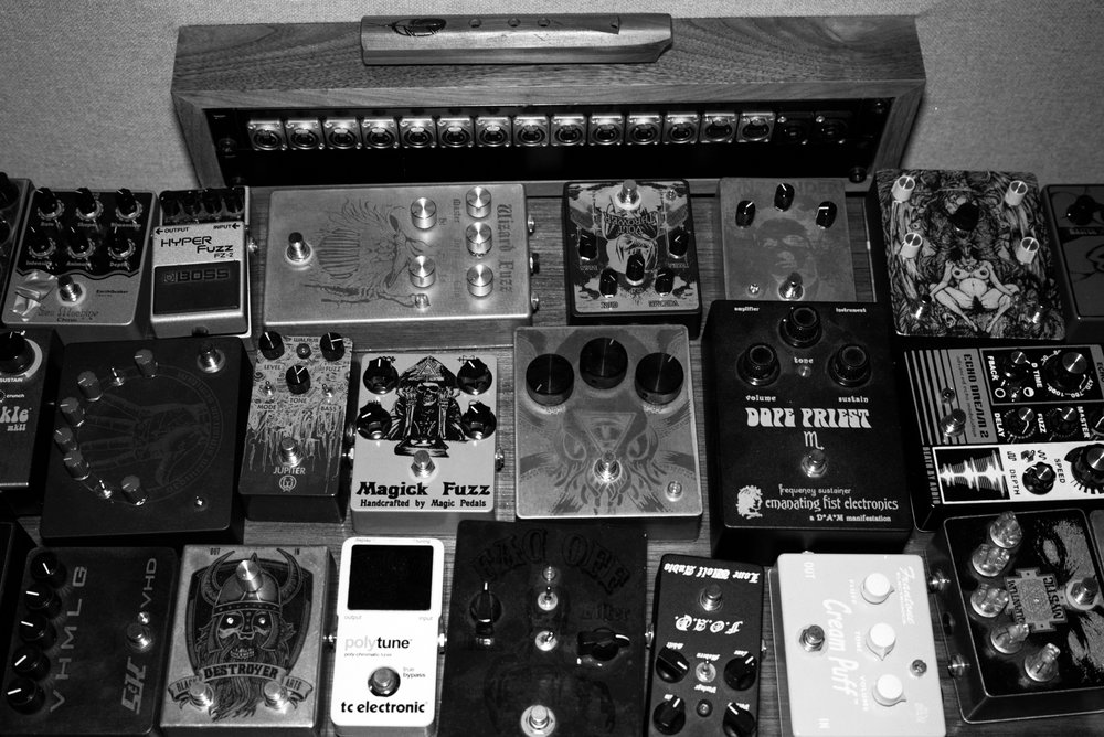 a selection of pedals