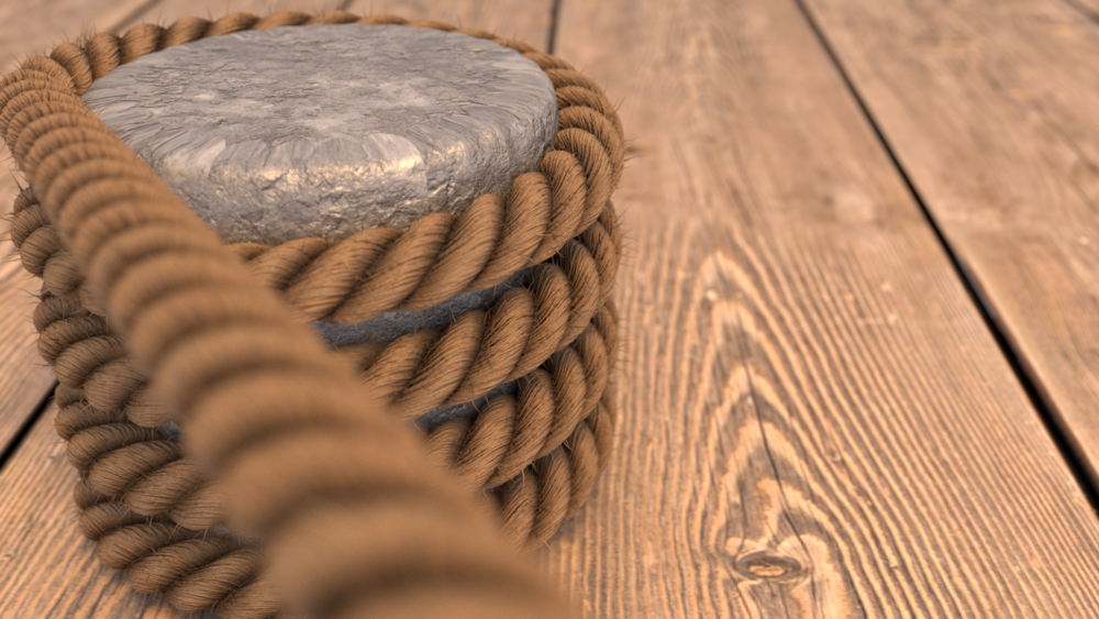 This gorgeous render of rope was created by our Tech Lead, Marcus Dangleben, in Blender!