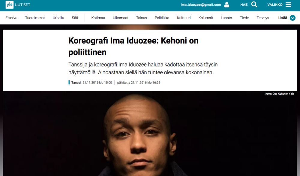 YLE interview on upcoming solo work The Body Of Work 21.11.2016