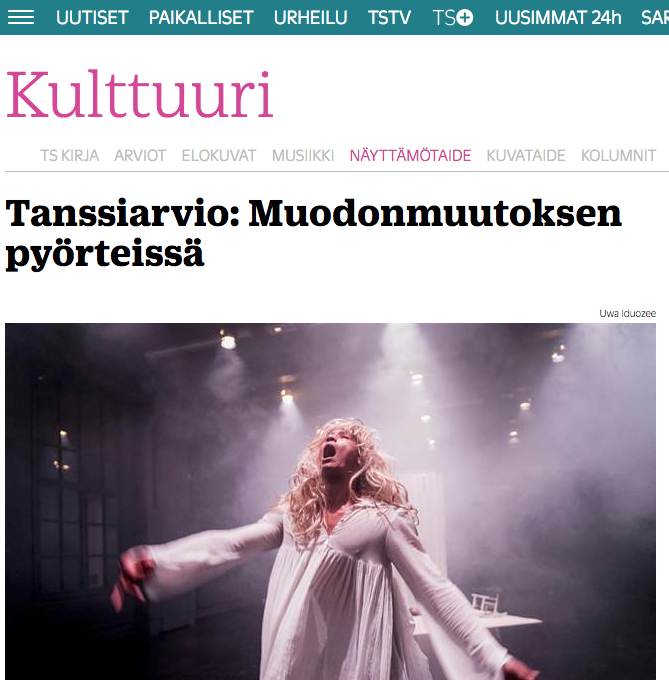 Turun Sanomat review on The Body Of Work 26.11.2016