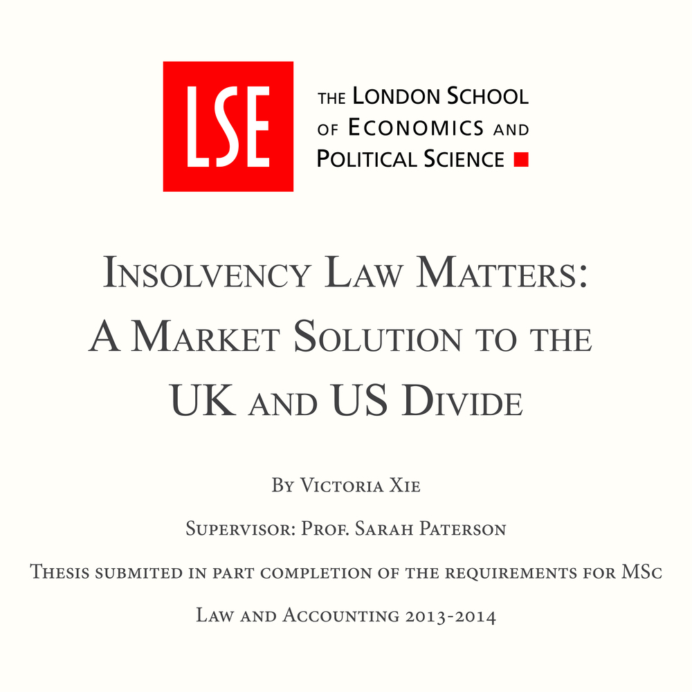 Victoria Xie's LSE Master's Thesis