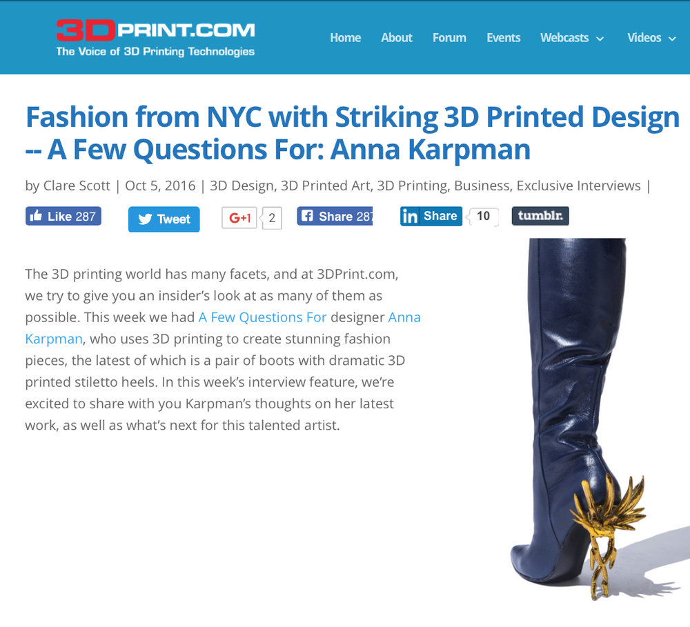 CONCEPT AK FEATURED ON 3DPRINT.COM, OCTOBER 2016