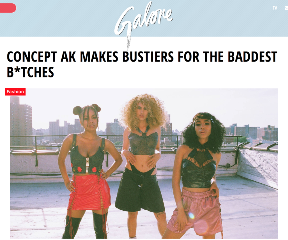 CONCEPT AK DEBUT THROUGH GALORE MAGAZINE, JULY 2016
