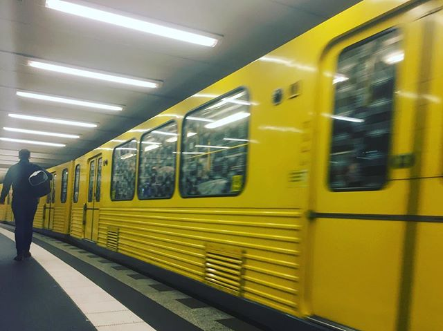 Yellow Berlin, Las - Gidi (Lagos) on my mind. #berlin #transport #metro #everydayberlin