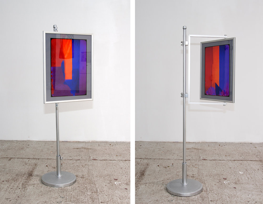 """Pride and Prejudice ( George Schuyler by Carl Van Vechten ) 2018  ( """"Front"""" and """"Back"""" views ) Pigment Prints on Paper, Glass, Metal Frame and Stand  Dimensions Variable"""