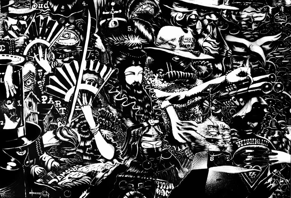 """Wishigain Again       Michigan     Acrylic on Canvas    24"""" x 36""""    2013"""
