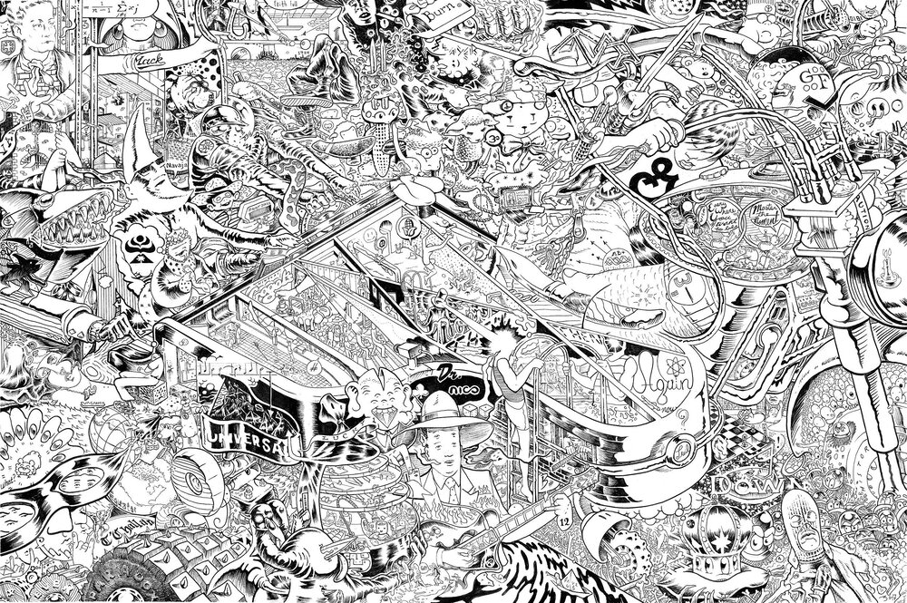"""Mack The Knife   ink on paper  30 x 44 """""""
