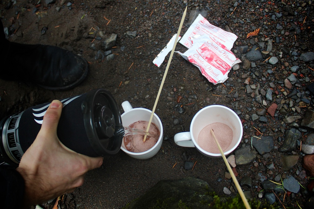 Not trying to promote Jetboil, but seriously — there's nothing better than a hot drink on a cold hike.