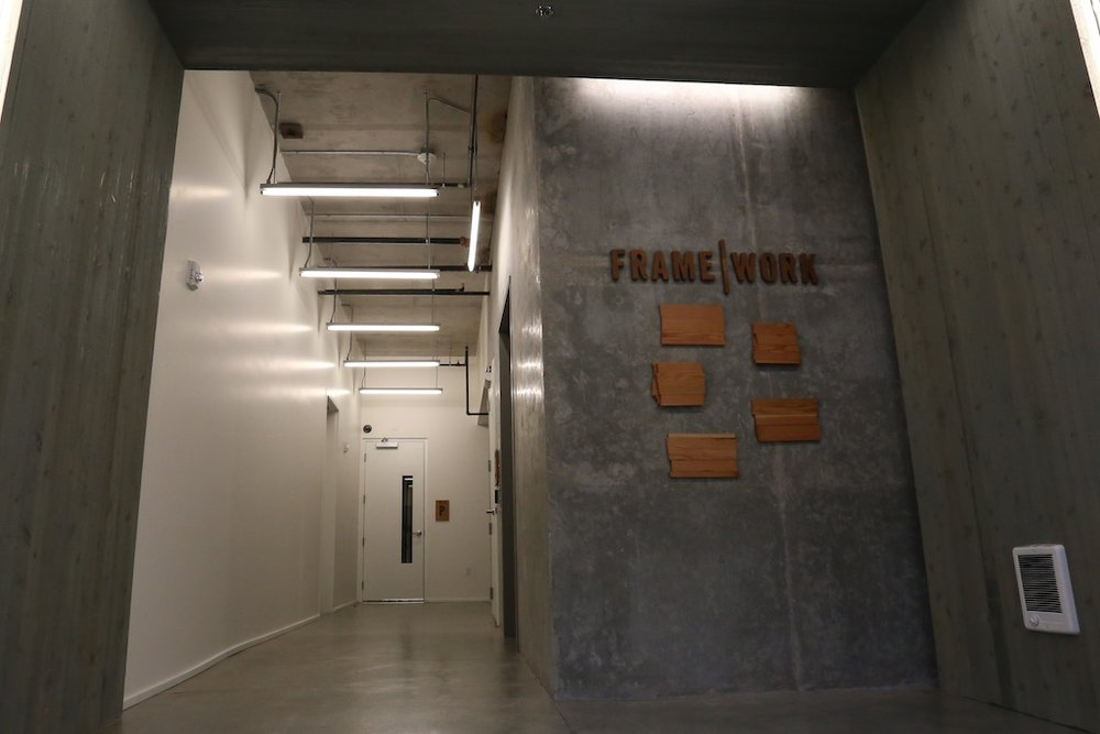 Before — lobby redesign, Framework Building, Portland, OR