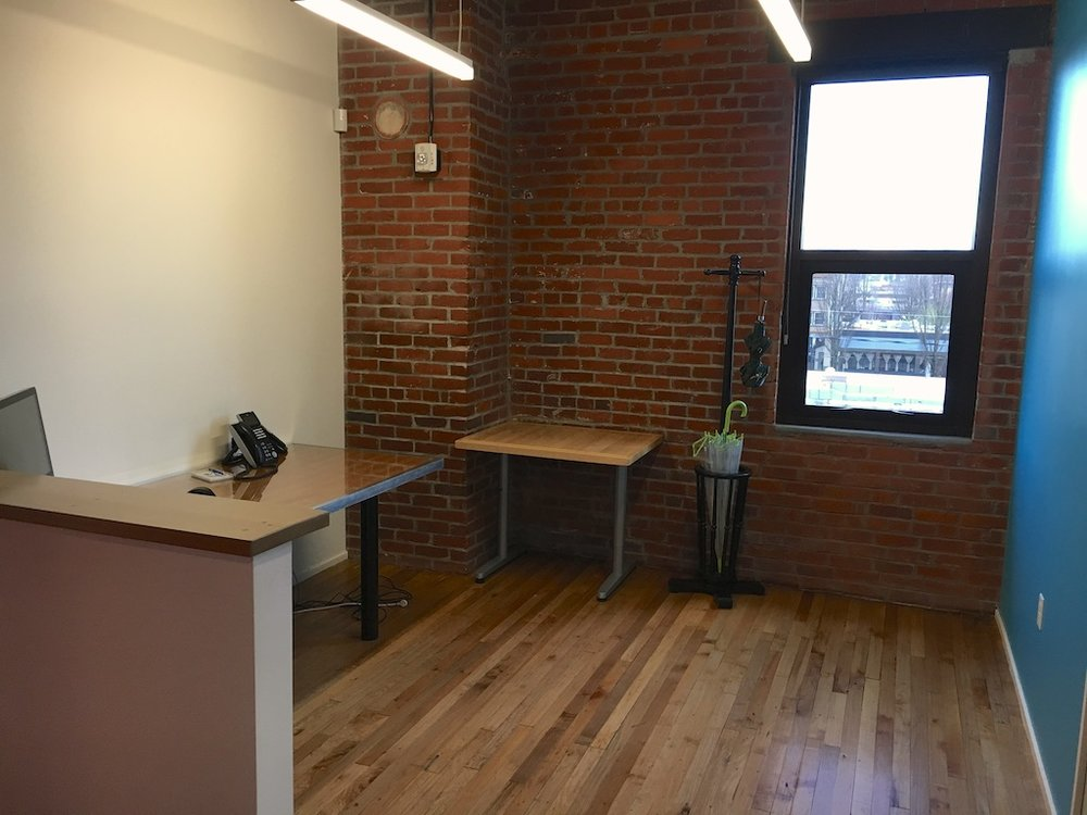 Before — client waiting area, Urban Development + Partners, Portland, OR