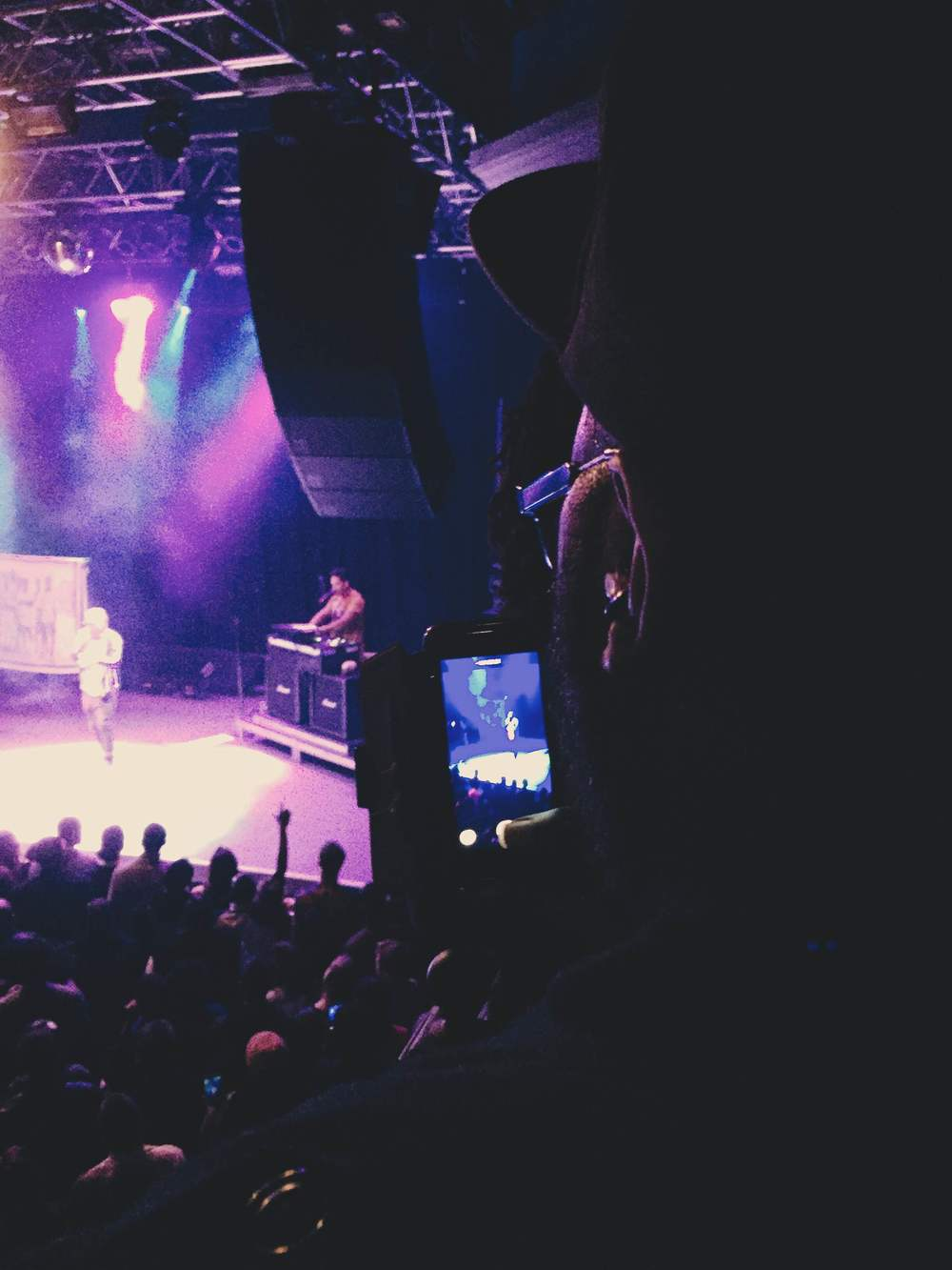 "Picture of me at Lupe Fiasco's ""A Tour For The Fans"" [Picture by The Wife]"