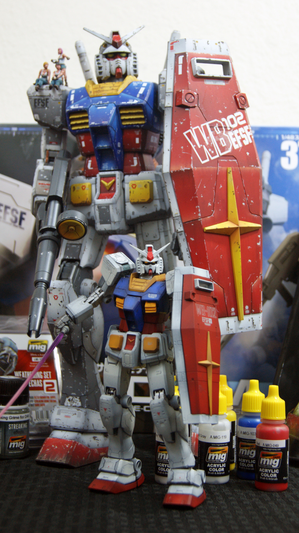 Gundam Scale Comparison RX-78-2 Mega Scale Heavy Grade HG