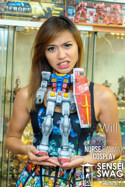 Gunpla Gundam Girl Mega Scale RX-78-2 Nurse Baemax Sensei Swag