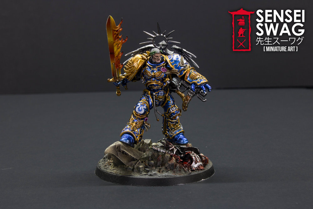 Ultramarines 2nd Battle Company Guilliman Shiny Chome Gloss Blue-2.jpg