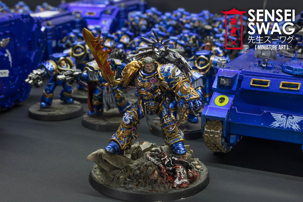 Ultramarines 2nd Battle Company Guilliman Shiny Chome Gloss Blue-3.jpg
