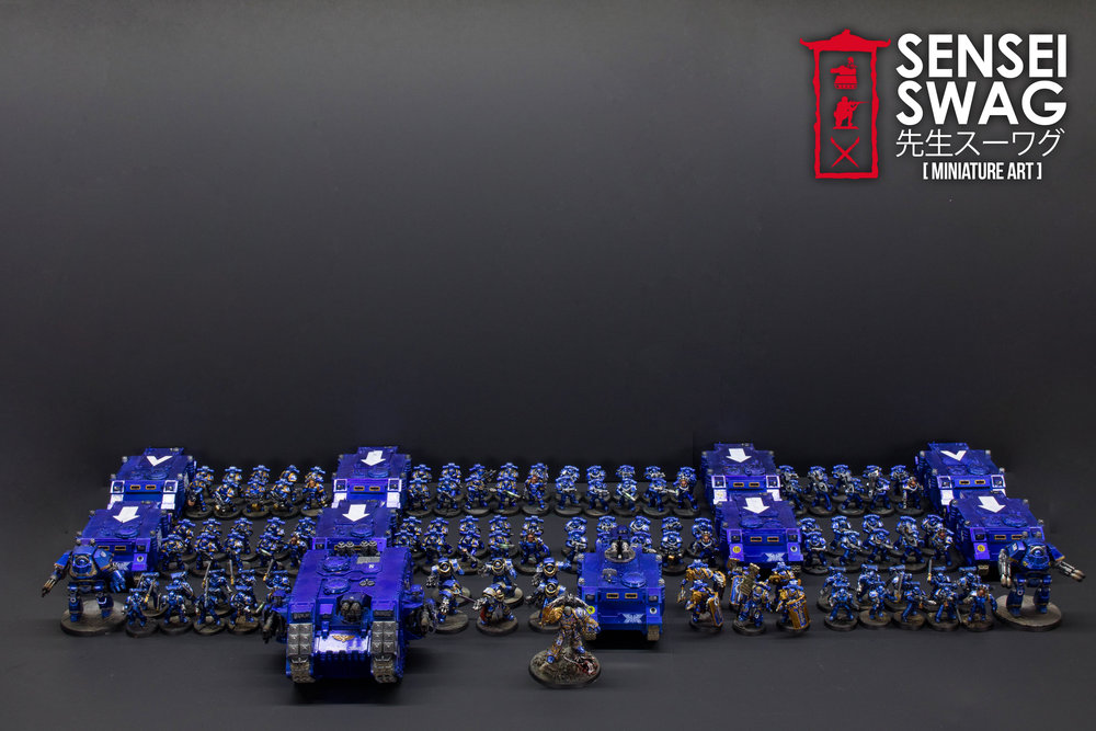 Ultramarines 2nd Battle Company Guilliman Shiny Chome Gloss Blue-1.jpg