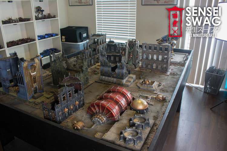 Cityfight Imperial Sector Game Table Sensei Swag