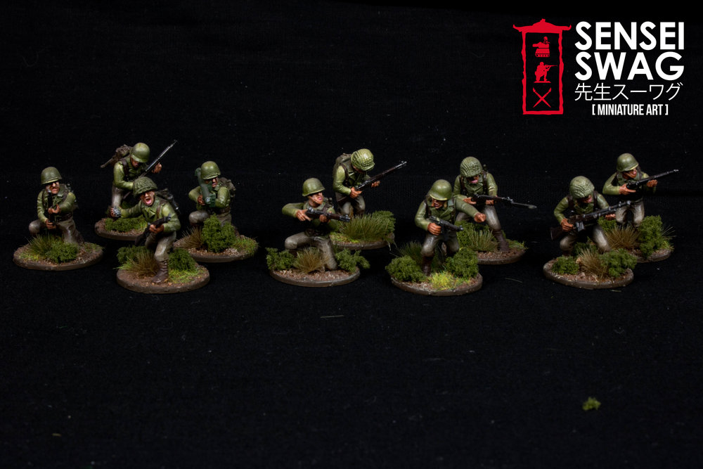 Bolt Action 28mm WWII Americans Germans War Game Flames of War-10.jpg