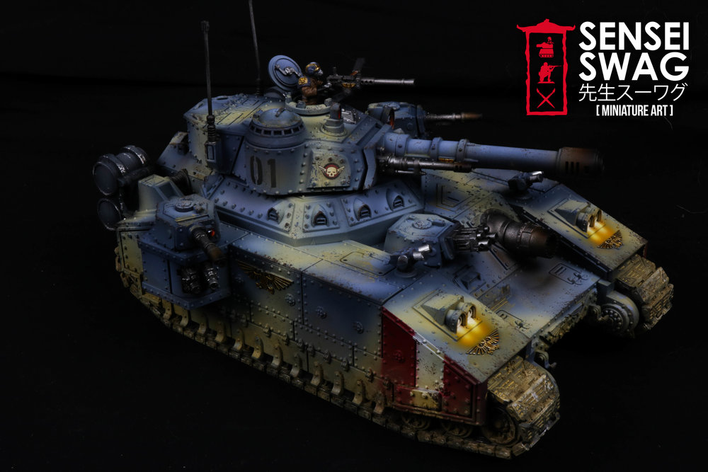 Imperial Guard Tempestus Scions Baneblade glowing lights 40k Tank-2.jpg