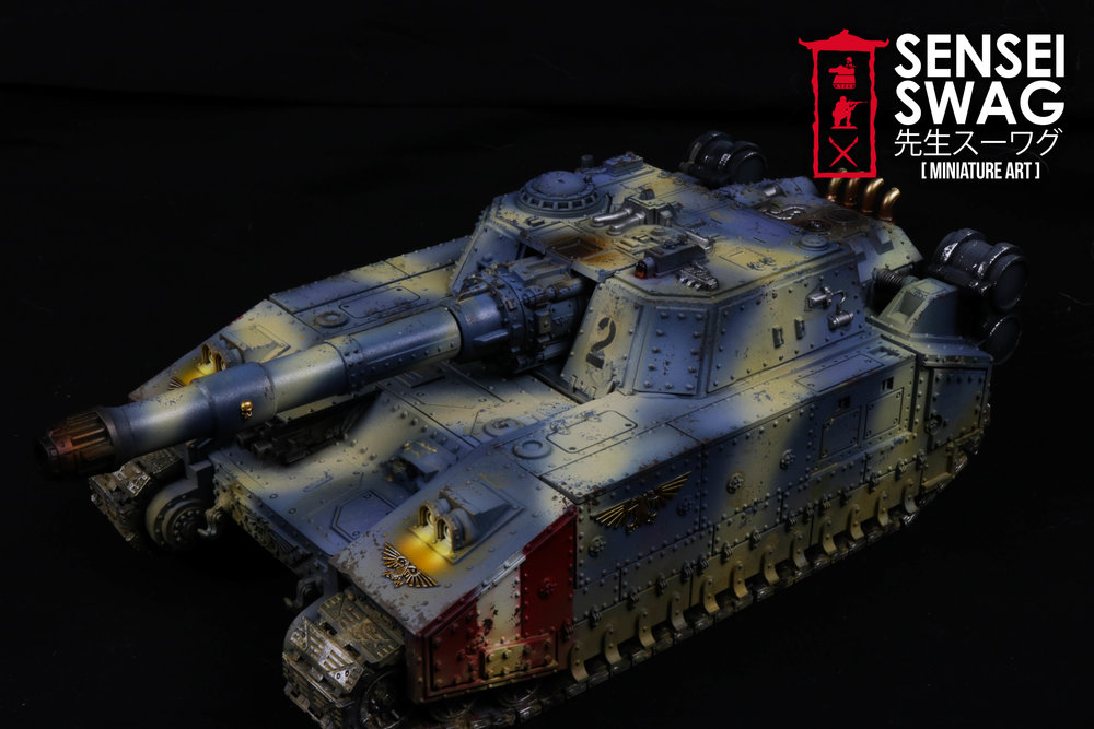 Imperial Guard Tempestus Scions Baneblade glowing lights 40k Tank-3.jpg