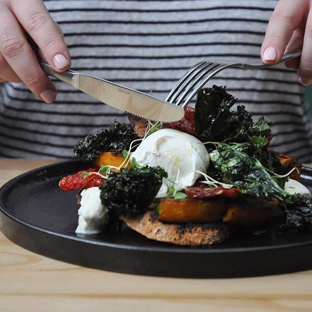 It's Monday again... let's do this 👊🏻✨ . . . . . . #melbourne#melbs#melbournecafe#melbournecoffee#brunch#breakfast#eggs#melbournestyle#breakfastinmelbourne#kale#sundriedtomato#cheese#buffalomozzarella#sourdough#monday#freshstarts#poachedeggs#yolkporn#instagood#instadaily#instafood#food#foodie#vscocam#follow#love#eat#foodphotography#mozzarella#picoftheday
