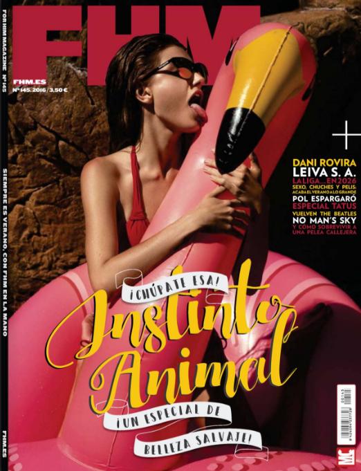 Makeup for Angeline // FHM Espana Cover Sept 2016