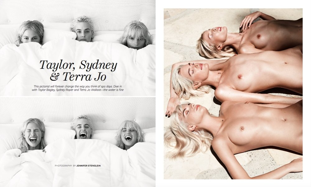 "Hair for ""Taylor, Sydney & Terra Jo"" editorial // Playboy"