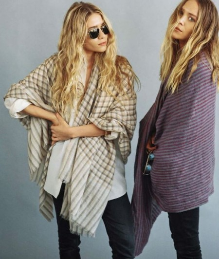 Olsens-Anonymous-Blog-Mary-Kate-Ashley-Olsen-Vogue-Germany-Plaid-Striped-Scarf-Wraps-Denim-Wavy-Hair