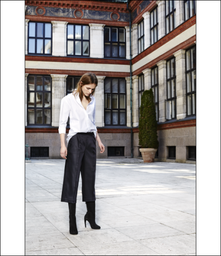 Le-Fashion-Blog-Chic-Black-White-Looks-Button-Down-White-Shirt-Culottes-Suede-Mid-Calf-Tall-Boots-Work-Style-Via-Bruuns-Bazaar