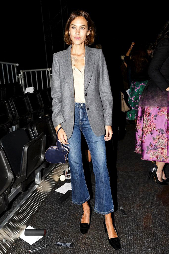 Le-Fashion-Blog-Alexa-Chung-Kick-Flare-Cropped-Jeans-Wavy-Bob-Hair-Grey-Blazer-Double-Breasted-Jacket-Blush-Button-Down-Shirt-SS16-Front-Row-Via-Harpers-Bazaar-UK.jpg