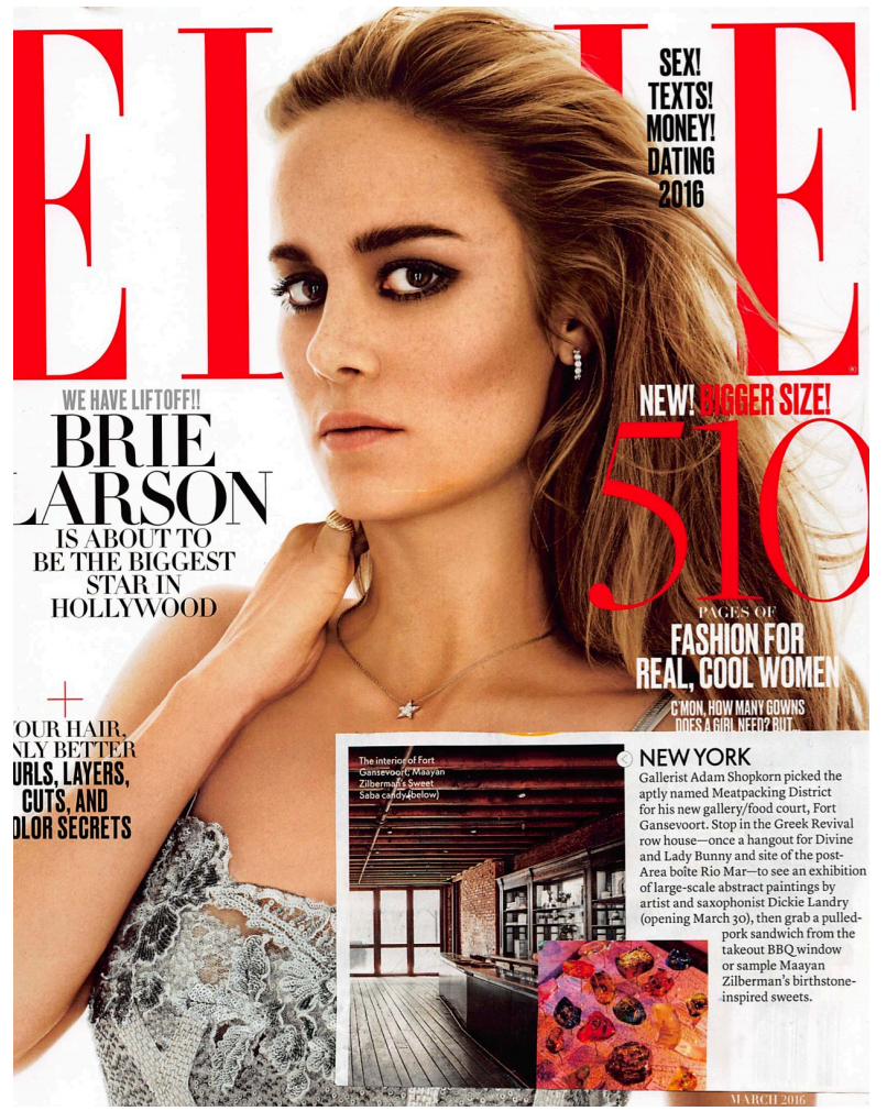 Elle Magazine  New York March 2016    View More