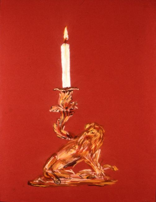 Karen Kilimnik Candle Stick, 1993 Pastel on Paper  25 1/2 x 19 3/4 inches