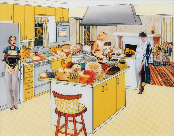 Laurie Simmons The Instant Decorator (Yellow Kitchen), 2003 Flex print, Edition 2 of 5 30 x 40 inches