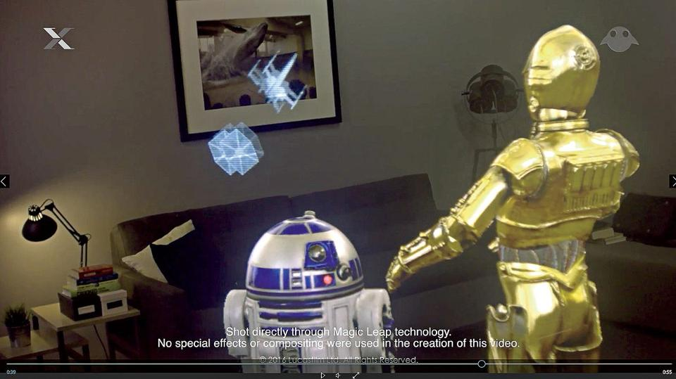 Star Wars predicted it 40 years ago: R2D2 and C-3PO interact with holograms, following a Magic Leap-Lucasfilm partnership.