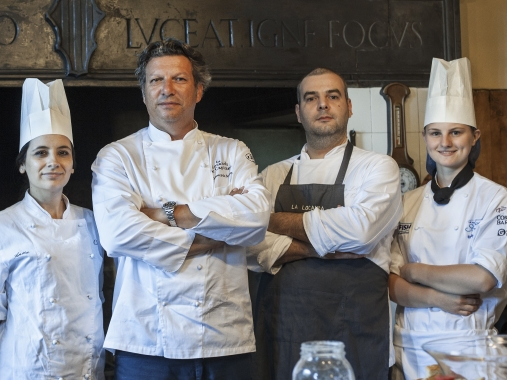 Giancarlo Polito, Head Chef:  In the evening we will dine in the small and cozy restaurant, experiencing the culinary skills of celebrity Chef Giancarlo Polito, whose philosophy is to retrieve the foundation of Italian cooking, by designing dishes in accordance with authentic Italian traditions and using original, and wherever possible, locally grown ingredients, integrating past and present cooking methodologies. Last but not least, a selection of excellent wines from over 400 outstanding regional and national producers will make your experience especially memorable.   What to Expect of a Culinary Adventure: Embark with our team as we immerse and cook our way throughout Montone, Italy, exploring tradition, history, and culture, while being mentored in French/Italian and travel cuisine. This is a great opportunity to develop your skills as a cook, or simply come home with a variety of recipes to share with friends, and explore some of Montone's hidden mountains, cliff-top roads, and wineries. At the end of your trip, you'll receive a greater love for diverse cooking including French and Italian cuisine that you can use when you go back home
