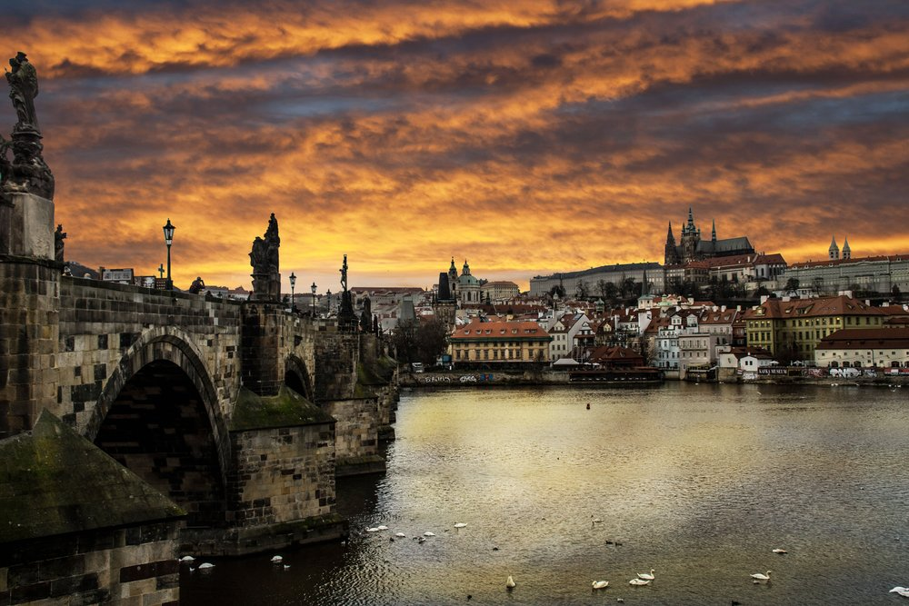 Prague Riverbank