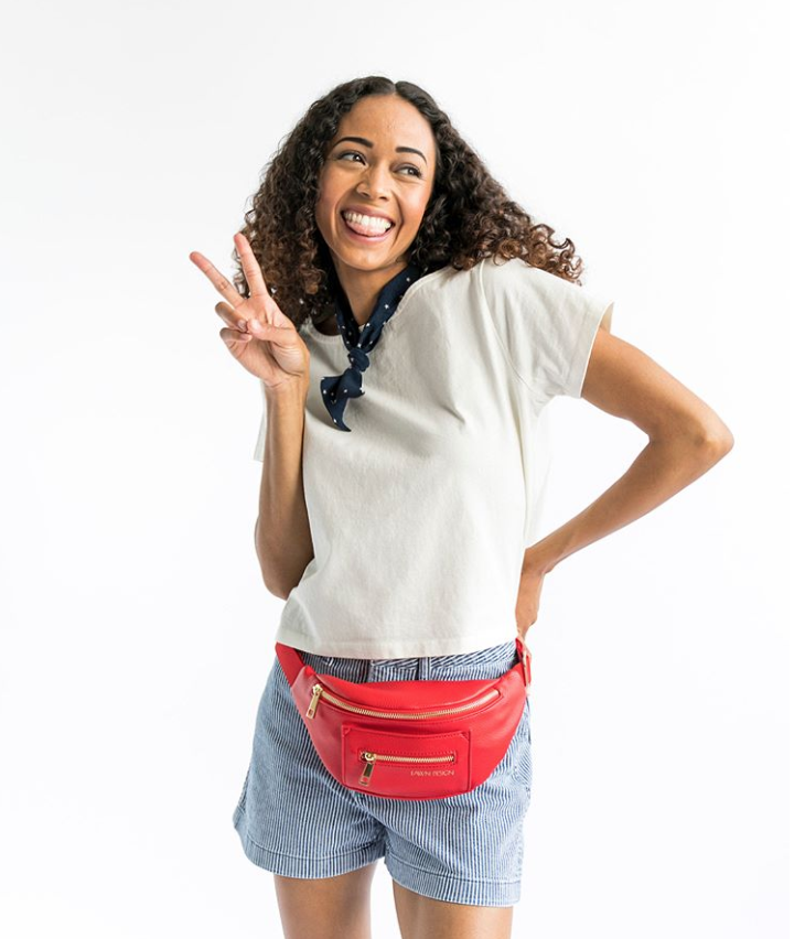 FAWN DESIGN    |  Fawn Design creates High quality bags with a simple sophisticated look and design. Faux leather bag that can be worn as a backpack, messenger, or fawny pack.