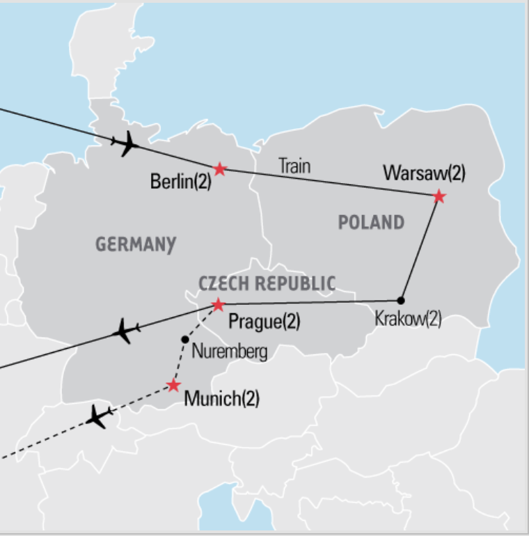 Central Europe Tour Map