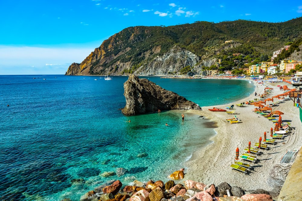The beach at Monterosso.
